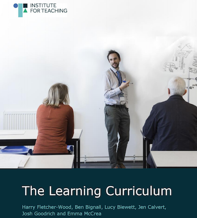 The Learning Curriculum